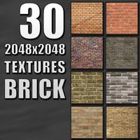 30 2048x2048 Brick Textures