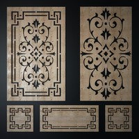 decorative laser cutting pattern 3d max