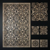 decorative laser cutting pattern 3d model