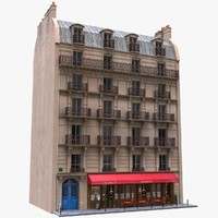 france building tenement 3d model