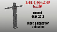 animation robo biped base 3d max
