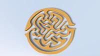 3d model maze circle