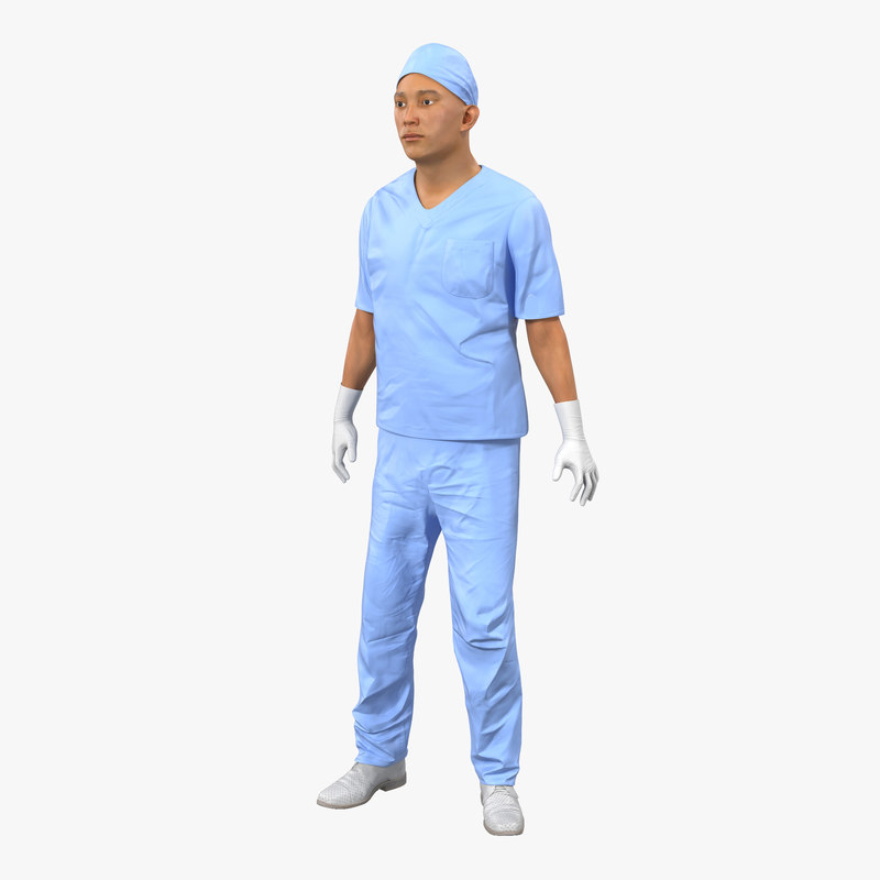 3d model of Male Surgeon Asian Rigged 00.jpg