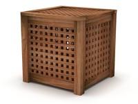 IKEA HOL Side Table, Acacia