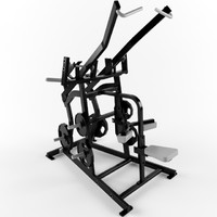 Low poly gym equipment pulldown