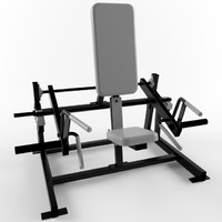 Low poly gym equipment shrug