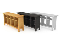 3d model solid ikea console table