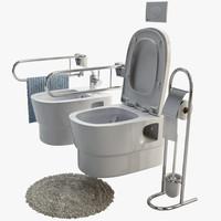 3d toilet bohemia model