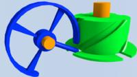 3d simple mecanizm model