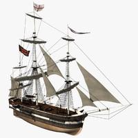 bomb ship 3d model