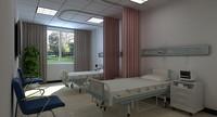 hospital room 3d max