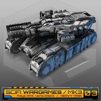 scifi heavy tank mk3 3d model