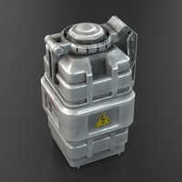 3d futuristic grenade