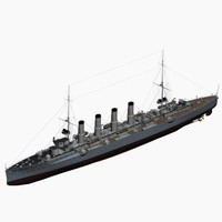 magdeburg class cruiser imperial 3d max