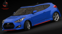 hyundai veloster turbo 2015 3d model