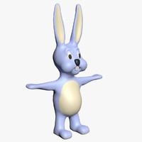 cartoon bunny 3d model