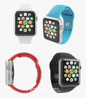 3d model of apple watch sport