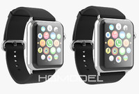 apple watch stainless steel 3d max