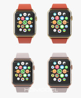 3d model apple watch edition yellow