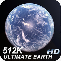 3d earth clouds 512k model