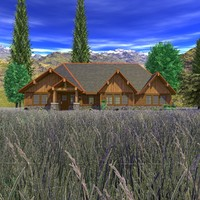 craftsman house scene 3d 3ds