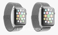 3d model apple watch stainless steel