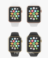 3d apple watch edition yellow model