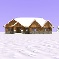 3d wooden craftsman house day