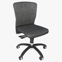 3d model armless office chair