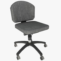 3d model armless office chair 2