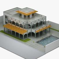 3d model villa