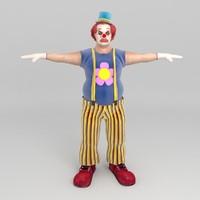 clown human 3d model