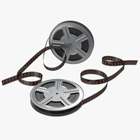 video film reel set 3d max