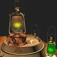 3d oil lantern