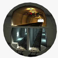 3ds max double deck tunnel