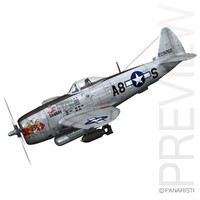 c4d republic p-47 thunderbolt -