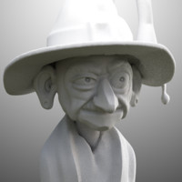 free cartoon witch 3d model