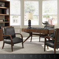3d american home office model