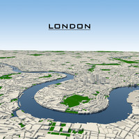 3d london cityscape