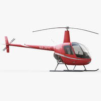 robinson r22 helicopter 3d model