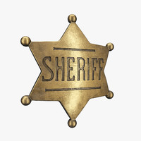 sheriff badge 3d model