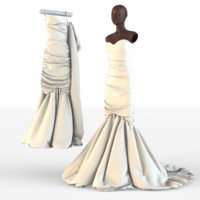 wedding dress 3d max