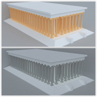3ds max temple apollon
