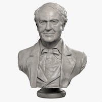 bust thomas edison 3d model