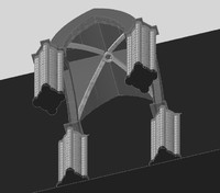 3d cross vault chartres cathedral model