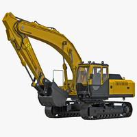 tracked excavator 3d c4d