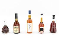 3d model whisky bottle