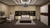bedroom design scene 3d max