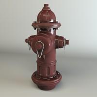 hidrante 3d c4d