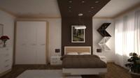 bedroom design scene 3d max
